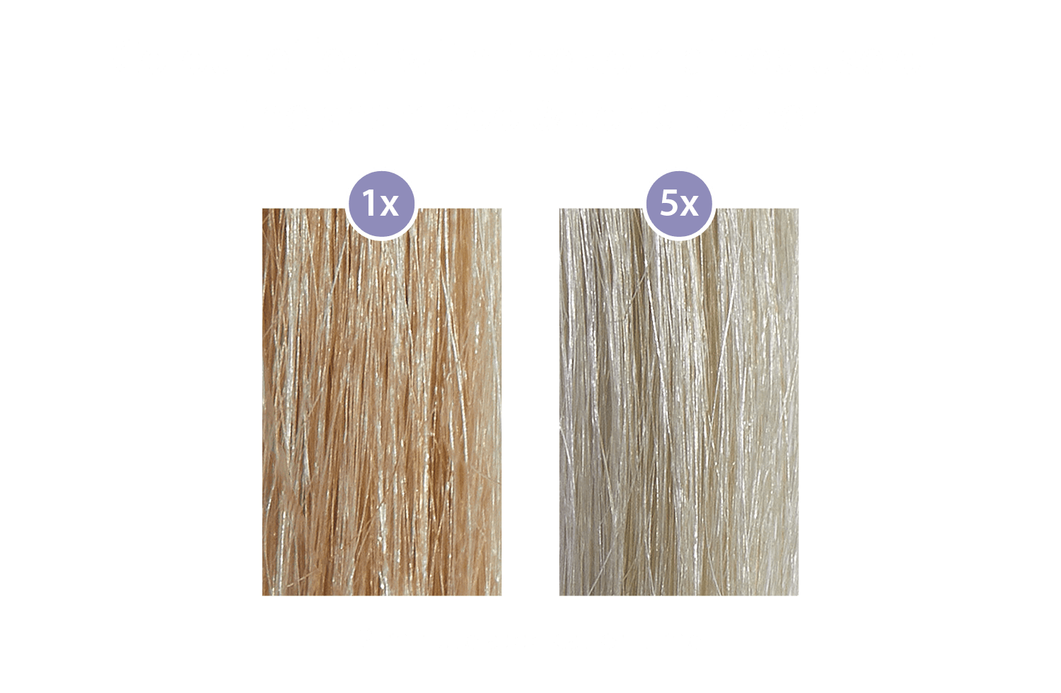 Colour effect with the combined use of  the shampoo & conditioner