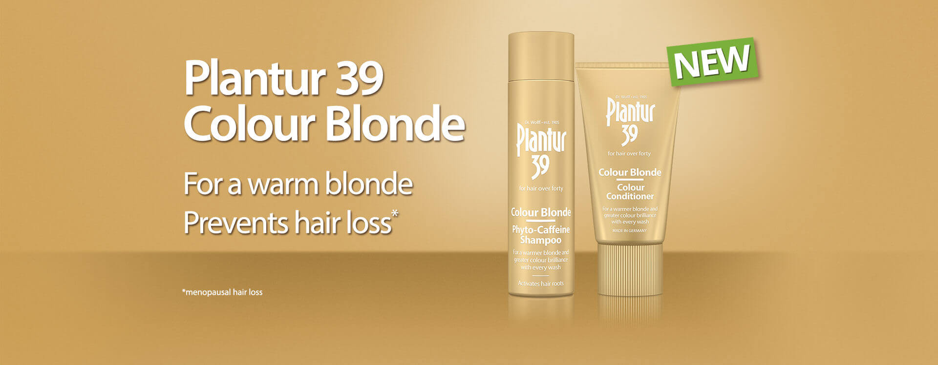 Plantur 39 Colour Blonde for a warm blonde