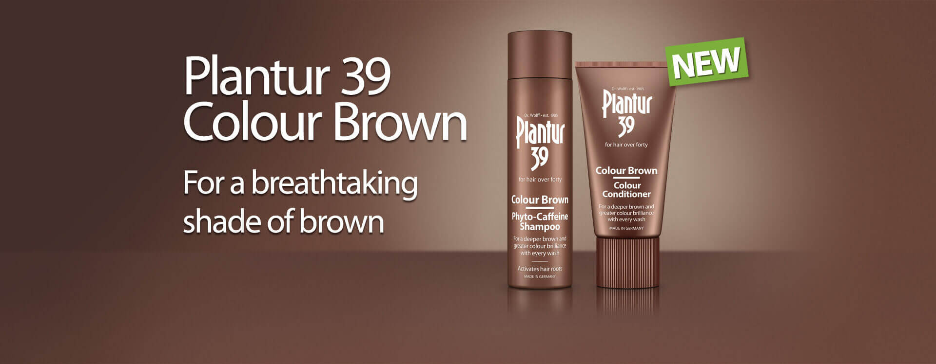 Plantur 39 Colour Brown for a breathtaking shade of brown