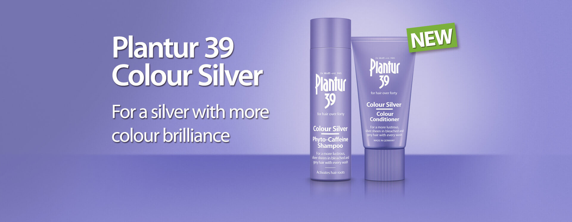 Plantur 39 Colour Silver for a silver with more colour brilliance